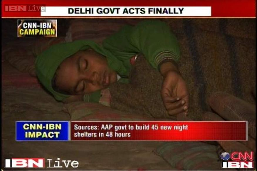 45 new night shelters to be built in Delhi in 48 hours: Govt sources