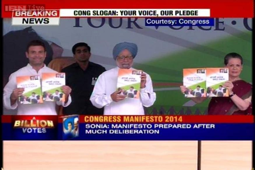 Full text: Congress manifesto for 2014 Lok Sabha elections