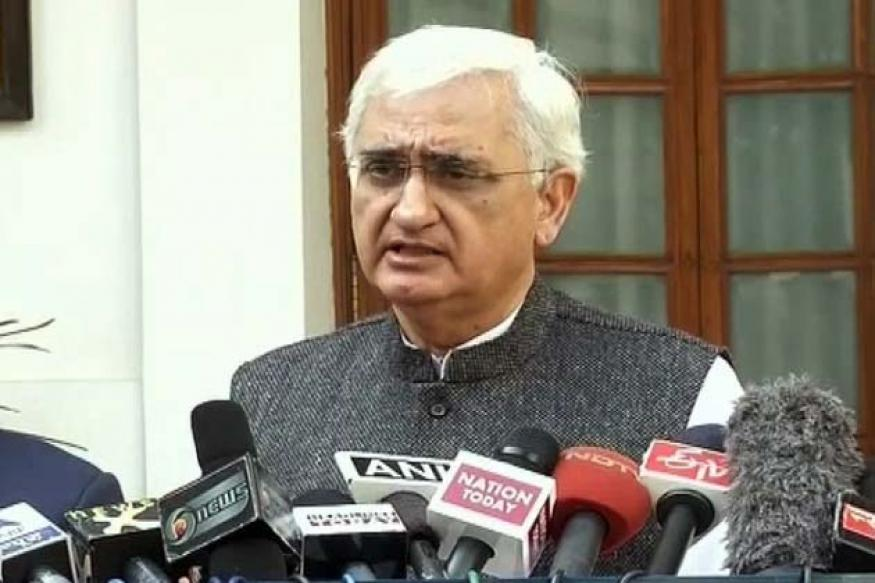 Khurshid hits out at UP police over poll code violation case