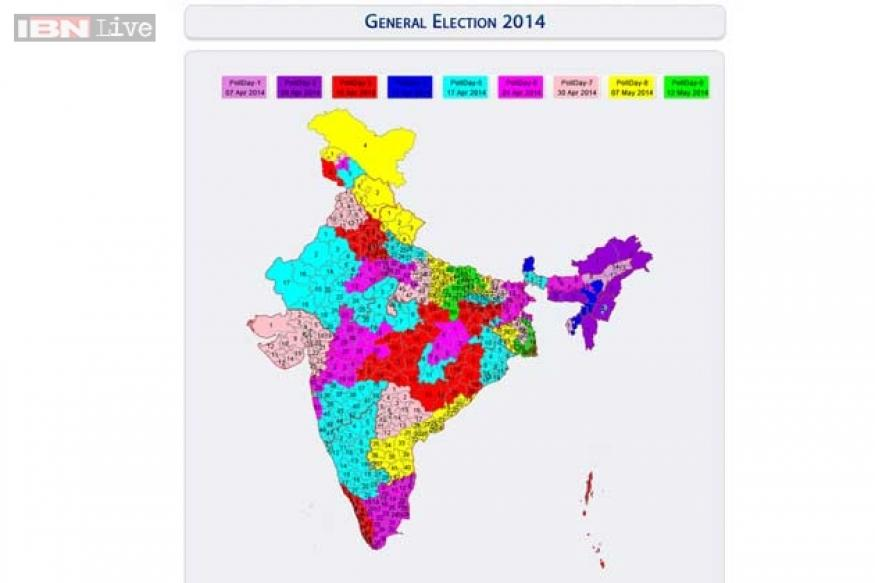 2014 Lok Sabha elections: Statewise voting dates