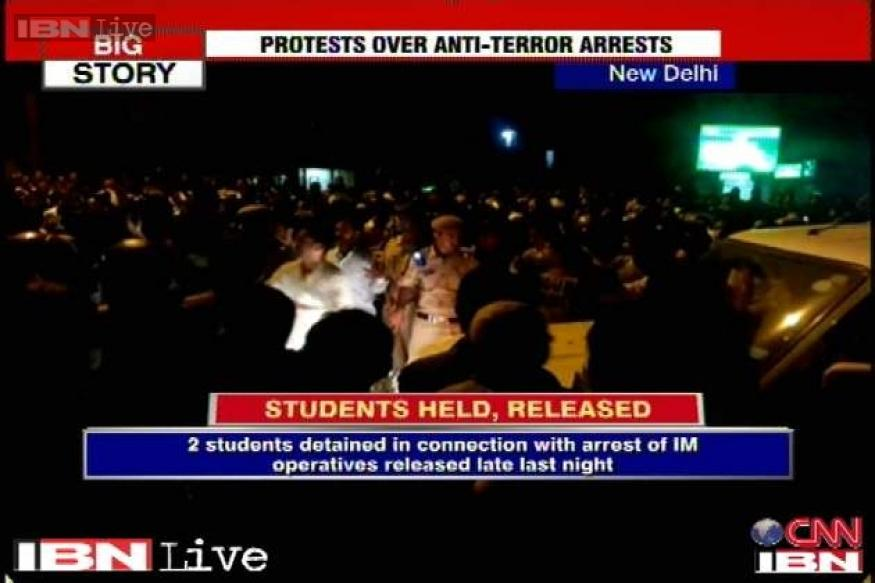 IM arrests: Two detained Jamia residents released after protests