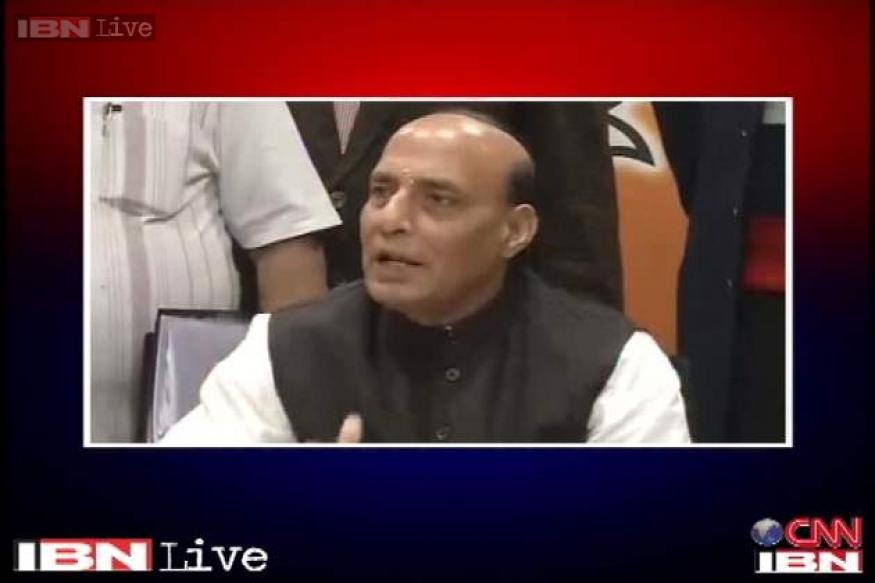 Advani is free to contest from Gandhinagar or Bhopal: Rajnath Singh