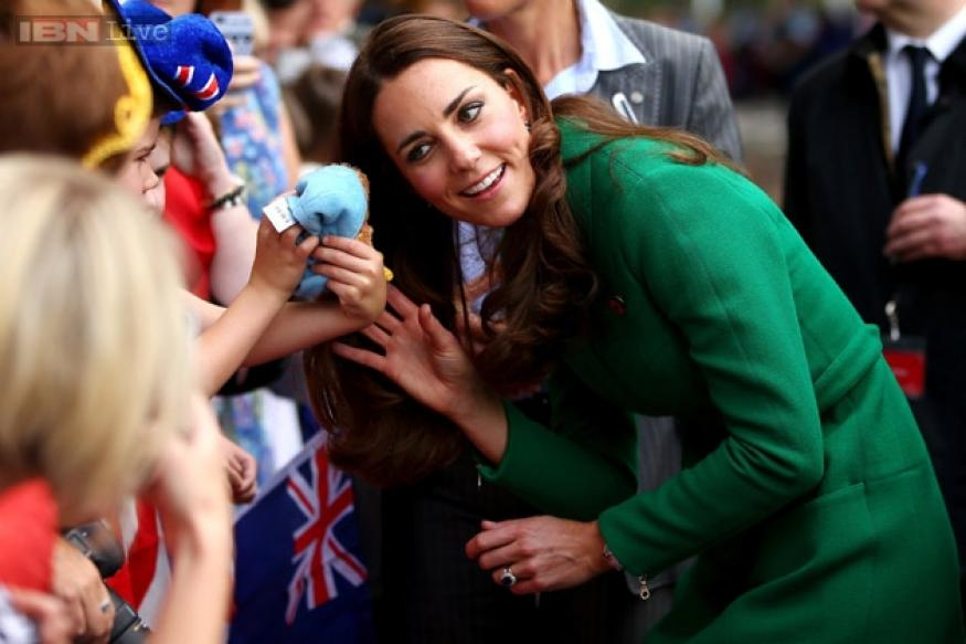 Kate Middleton meets ailing children at a hospital in New Zealand