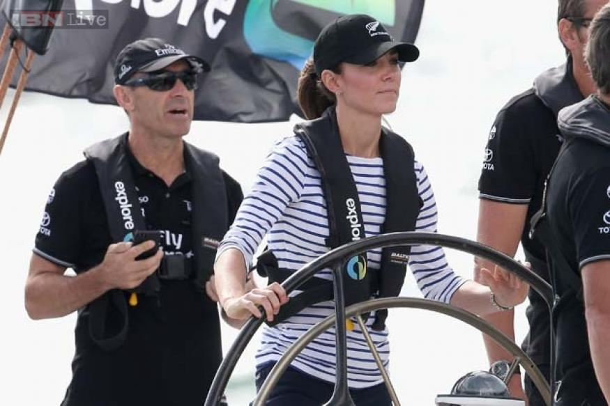 Photos: Kate finally gets her revenge for an earlier defeat, beats husband Prince William in yacht race in New Zealand