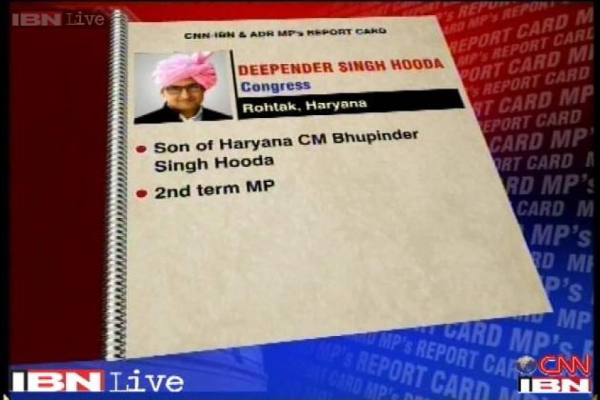 Deepender Hooda scores above average on MPs performance card