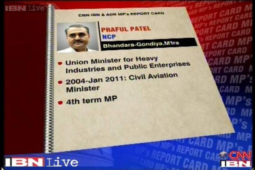 Praful Patel scores low on on MPs performance card