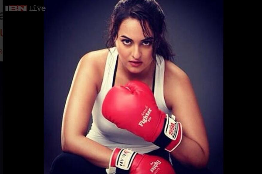 Snapshot: Sonakshi Sinha dons boxing gloves to play Boxer Saiba in 'Holiday'
