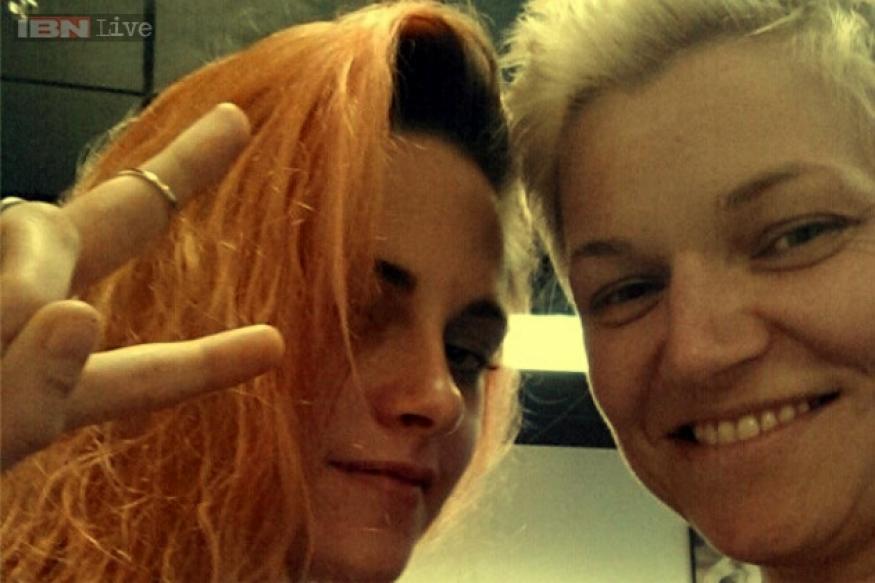 'Twilight' actress Kristen Stewart dyes hair tangerine for new film