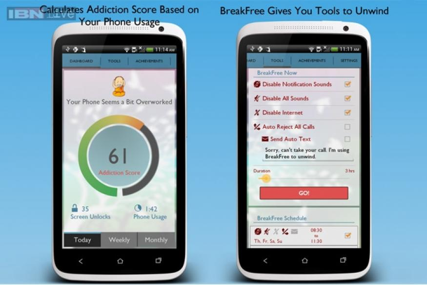 BreakFree: A new app that measures how addicted you are to your phone, reminds you to take breaks