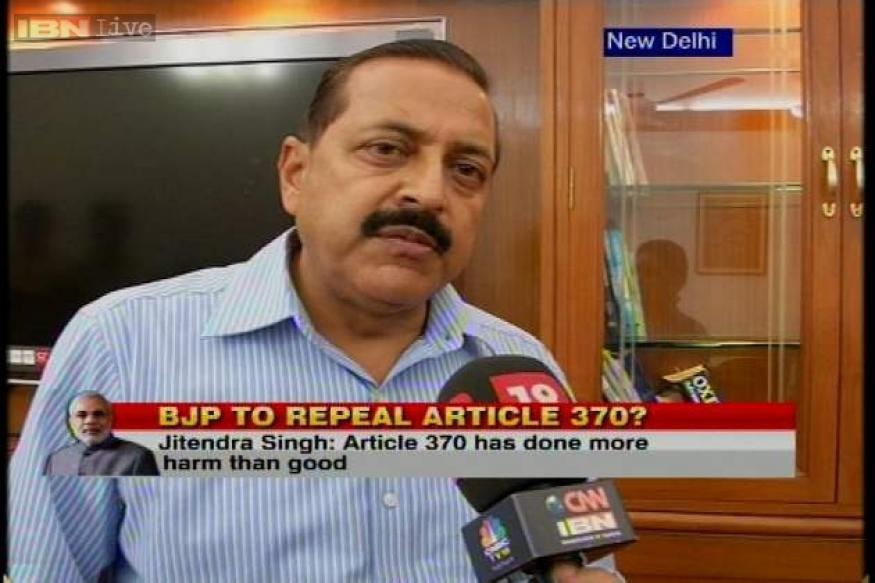 PM has called for a debate on Article 370: Jitendra Singh