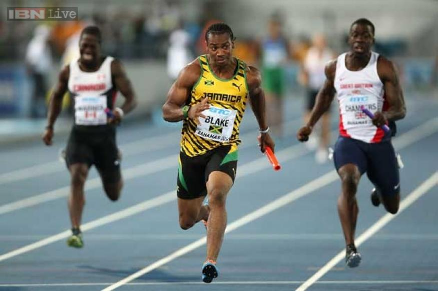 Yohan Blake back in form, leads Jamaica to 4x100 relay title