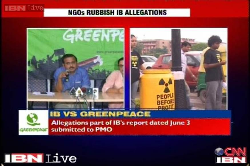 NGO Greenpeace asks MHA for a copy of the IB report