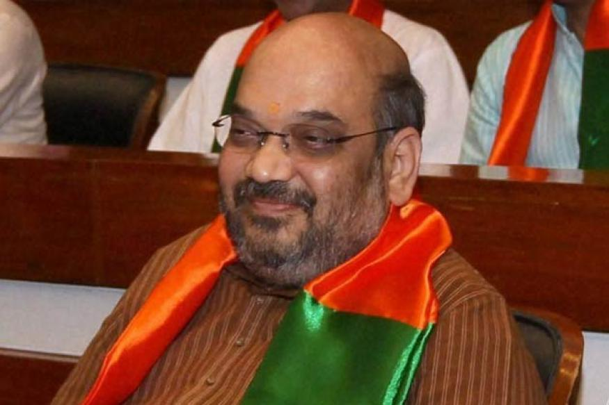 BJP activists celebrate Shah's elevation