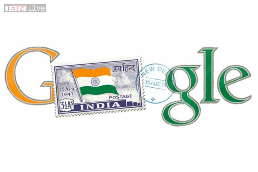 Google doodles independent India's first stamp on August 15