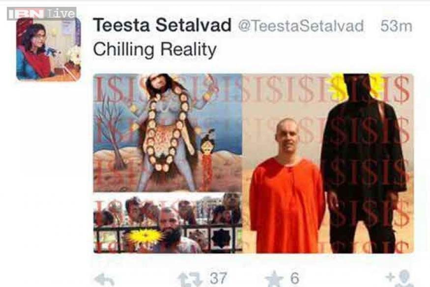 Image result for teesta setalvad hindu gods