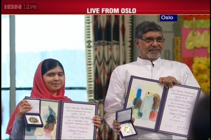 India and Pakistan at one stage as Kailash Satyarthi, Malala Yousafzai receive Nobel Peace Prize in Oslo