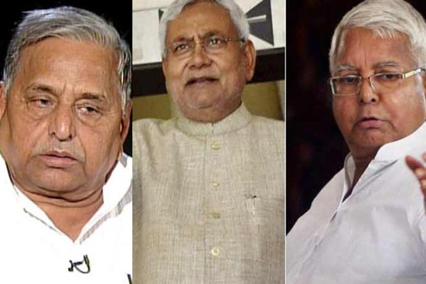Nitish, Lalu meet Mulayam to discuss possible alliance ahead of Bihar polls
