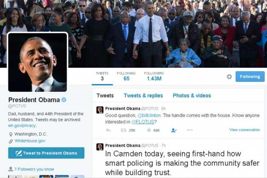 After six years, Barack Obama finally gets his own Twitter account