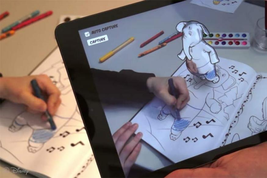 Disney Invents 3D Colouring Books For Children