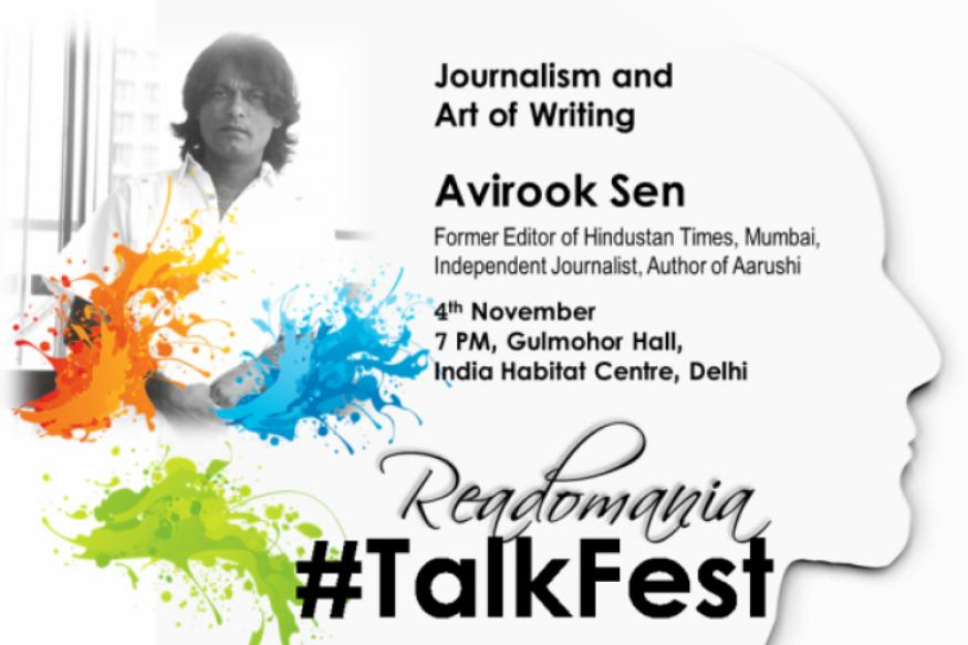 Readomania launches Talkfest on November 4 with Avirook Sen