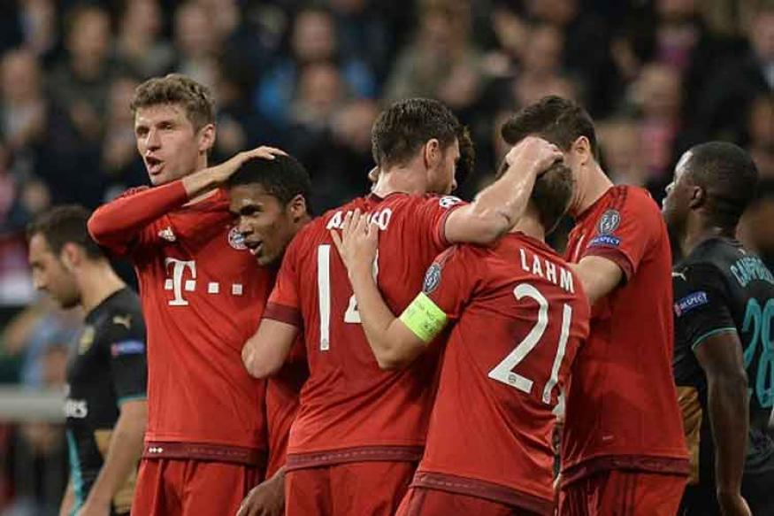 Bayern Munich destroy Arsenal, Madrid win