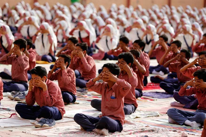 Image result for Yoga textbook created by Patanjali to be taught in Goa schools