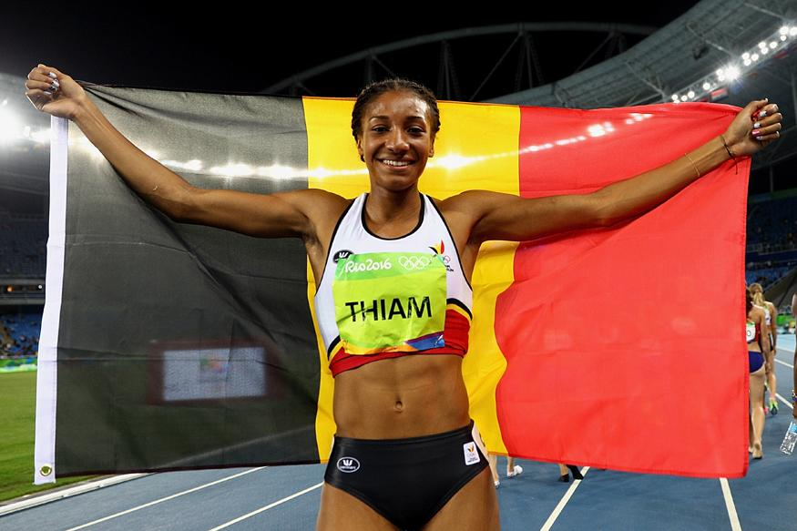 Olympics-Athletics-Belgium's Thiam wins heptathlon gold