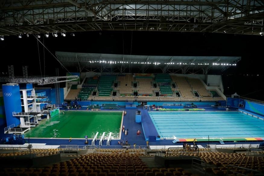 Olympic Swimming Pool 2016 olympic swimming pool green