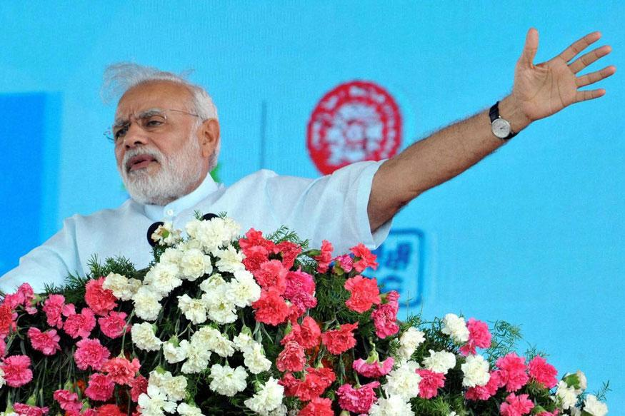 Youngsters who should hold laptops and books, given stones: Modi on Kashmir