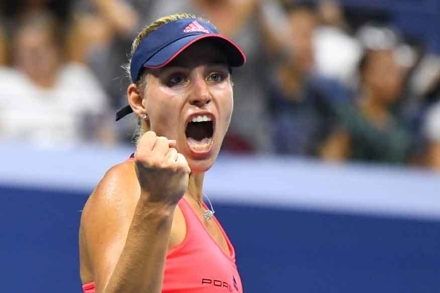 Kerber Holds Off Parmentier to Advance at Indian Wells