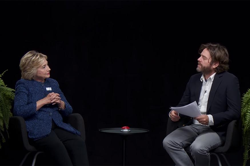 Hillary Clinton Spars with Comedian Zach Galifianakis on Parody Talk-Show Interview