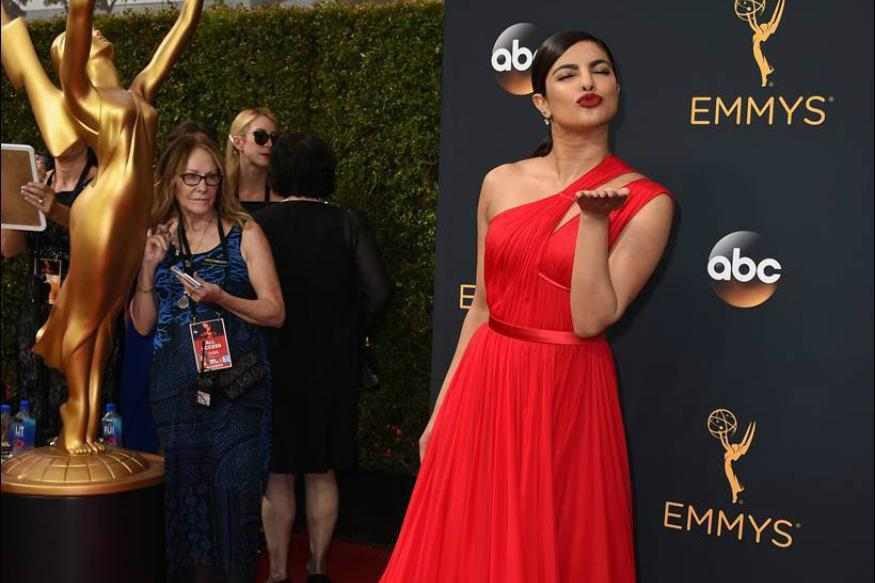 Priyanka Chopra Dazzles In Jason Wu Gown on Emmys 2016 Red Carpet