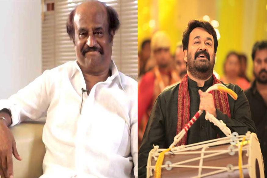 Rajinikanth Watches Mohanlal's Oppam at a Special Show