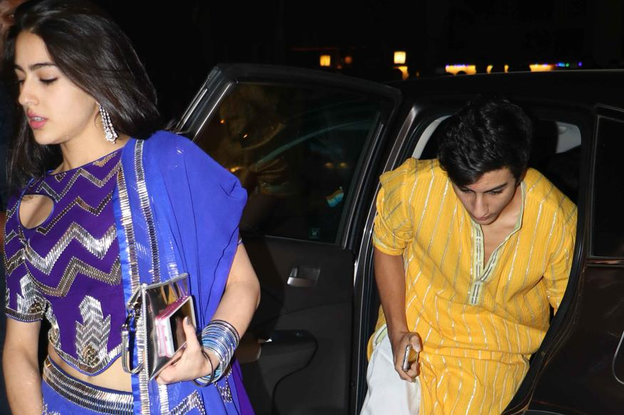 Ibrahim, Sara Ali Khan Make Heads Turn at Amitabh Bachchan's Diwali Bash