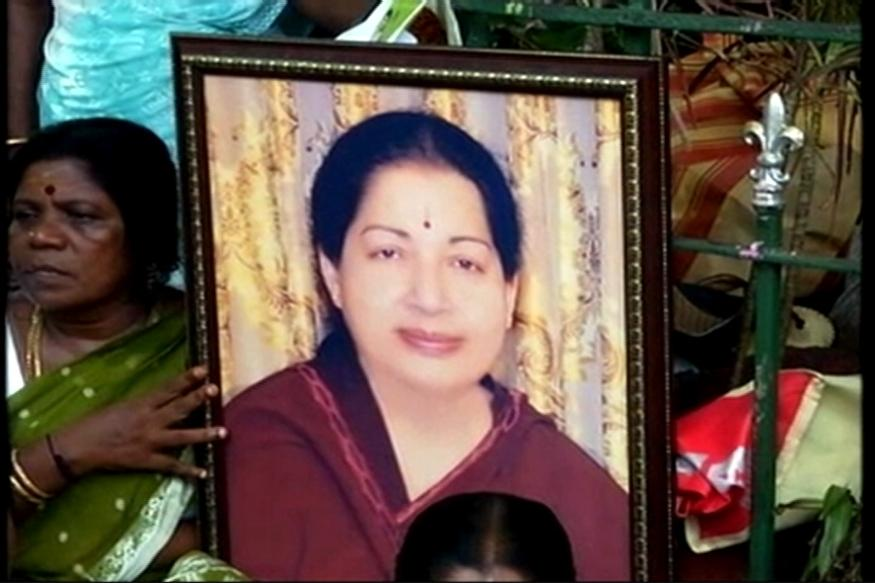 A day later, thousands flock to Jayalalithaa's burial spot
