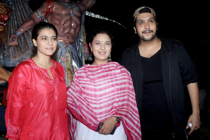 Kajol Celebrates Durga Puja With Cousin Sharbani Mukherjee