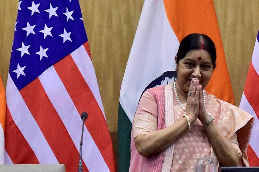 Sushma Swaraj Comes to the Aid of Recently-widowed Indian in US