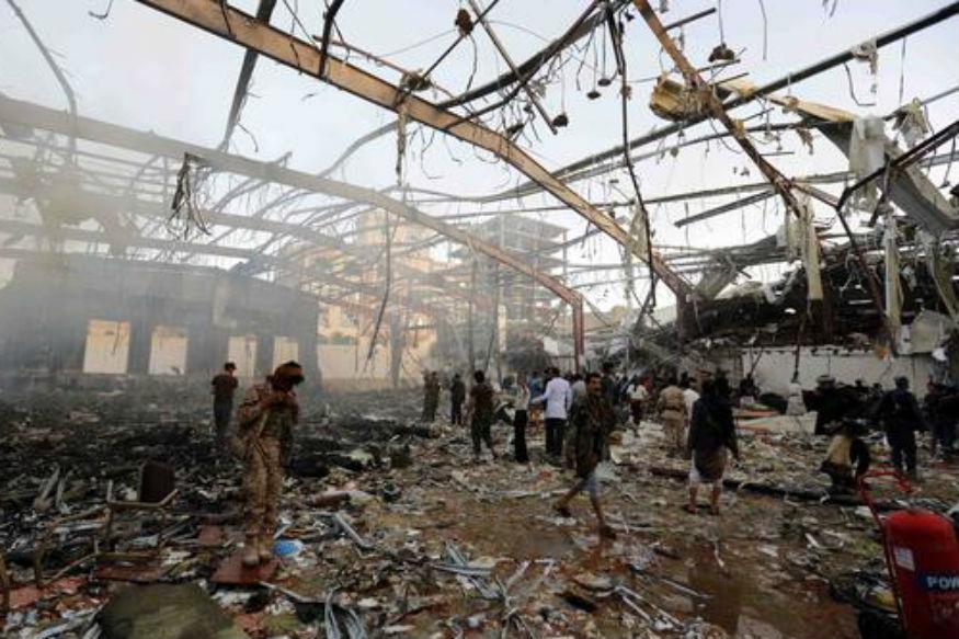 Saudi-Led Coalition Blames Yemeni Party for Funeral Bombing
