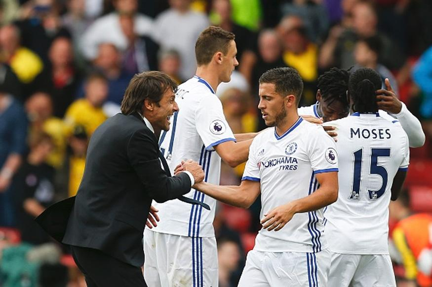 Chelsea Duo Conte and Hazard Scoop Premier League Monthly Awards