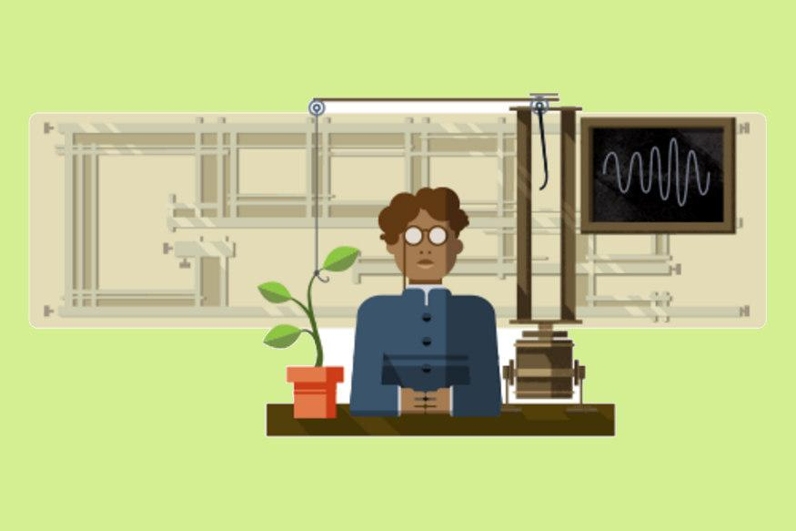Google Dedicates Doodle For The 158th Birthday of Jagdish Chandra Bose