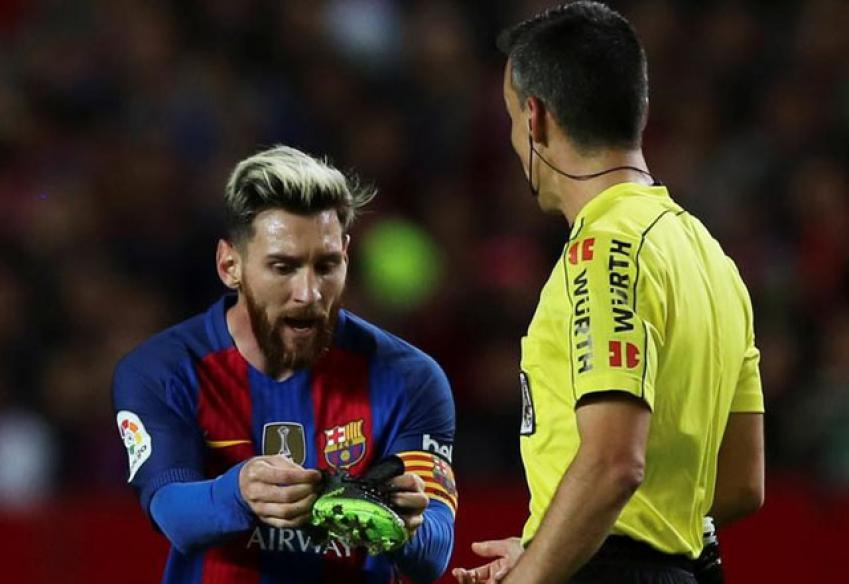 Barcelona Appeal Lionel Messi Yellow Card for Time Wasting Against Sevilla