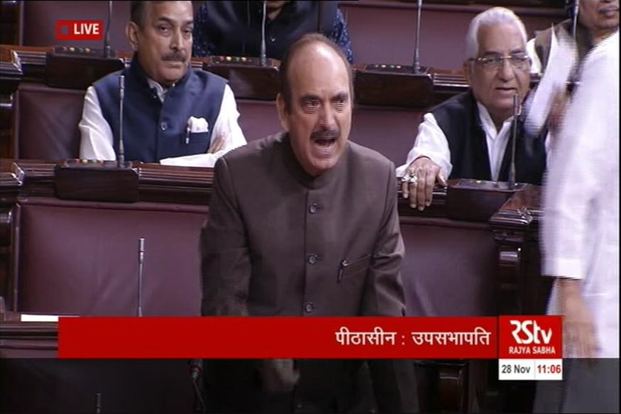 Man tries to jump into Lok Sabha from visitor's gallery