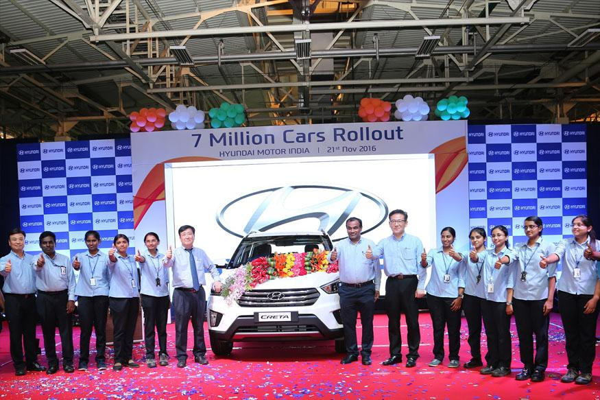 Hyundai Motor India Rolls Out 7 Millionth Car, Aims For 10 Million by 2021