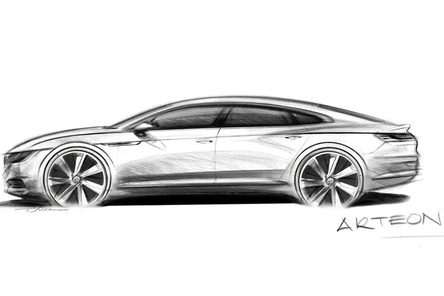 Volkswagen Teases With Sketch of New Upper Midsize Car