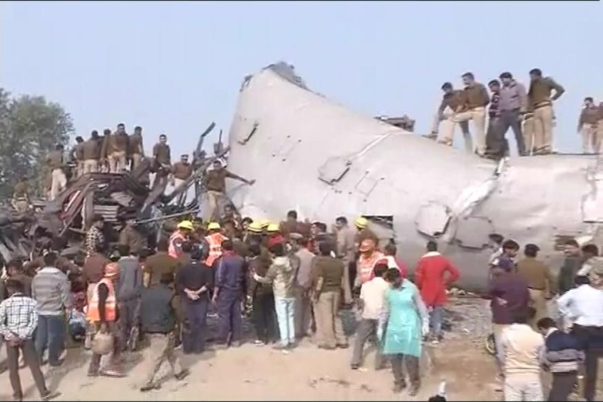 Train derails in northern India, killing at least 45