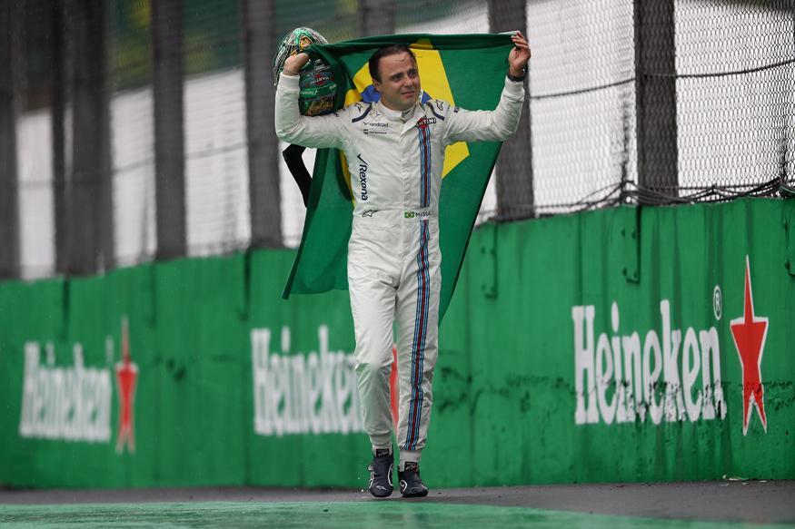 Felipe Massa Says Tearful Farewell to Home Fans