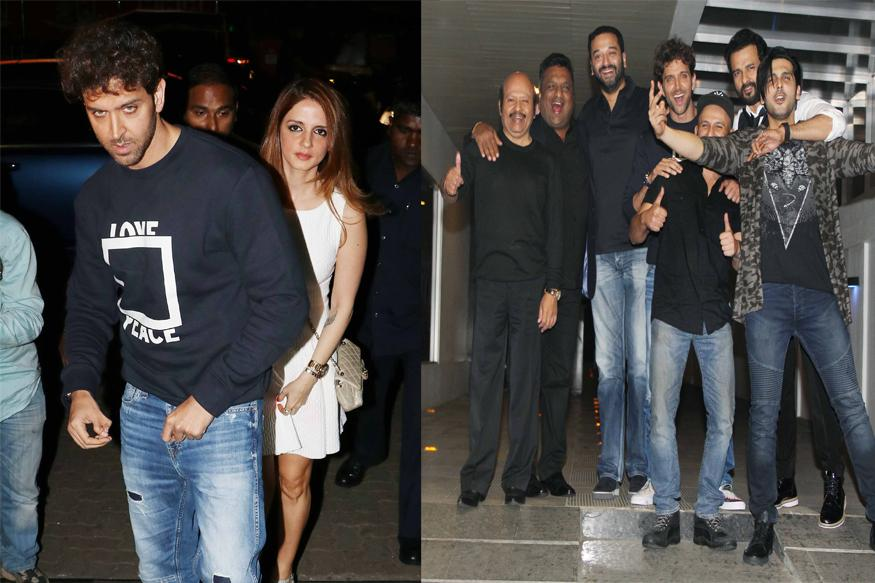 Photos: Hrithik Roshan Celebrates Birthday With Ex-wife Sussanne Khan, Kids Hridhaan and Hrehaan