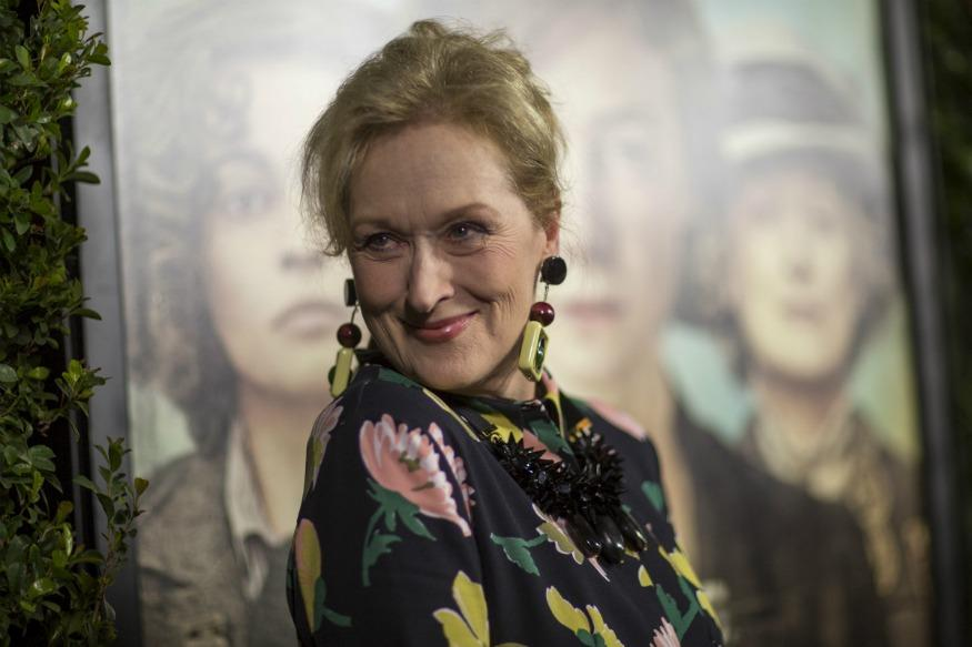 Meryl Streep is celebrating her Oscar nomination with a pitch-perfect GIF