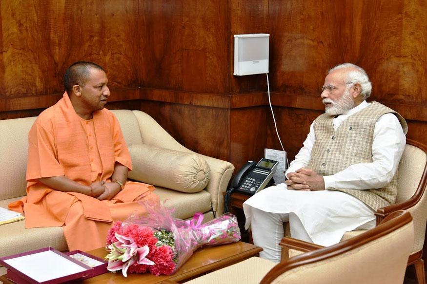 UP CM Yogi Adityanath Meets PM Modi in Delhi