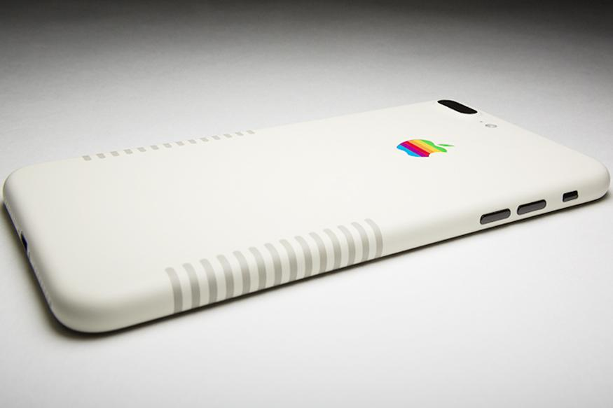 Apple iPhone 7 Plus Retro Edition With Dark Beige Stripes, Apple Rainbow Logo is Here